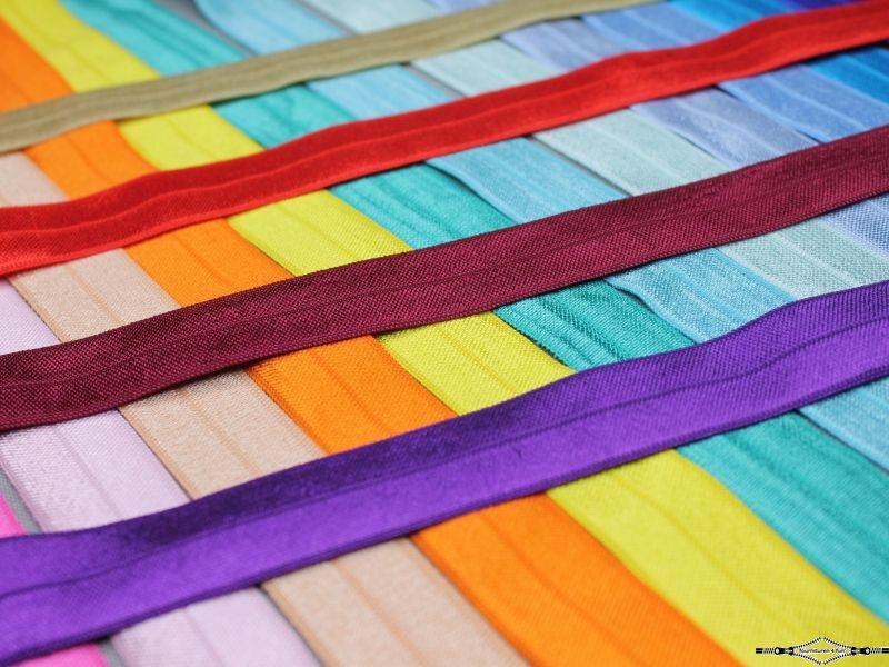 Unicolor elastische biasband