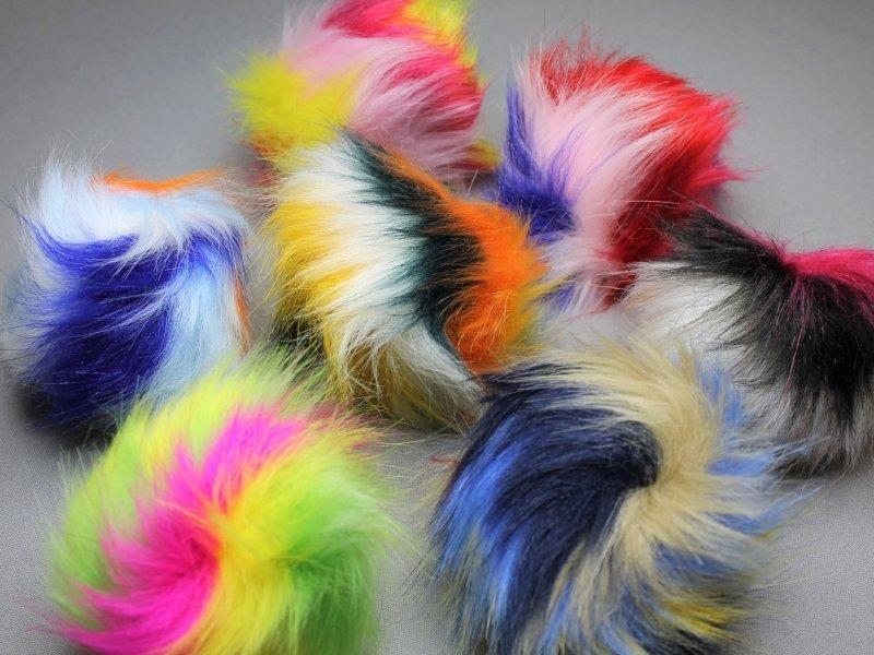 Bont pompons 12cm multicolor