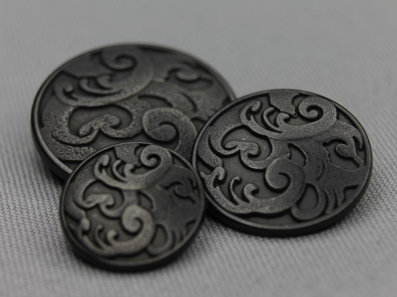 Zwart zilveren knopen
