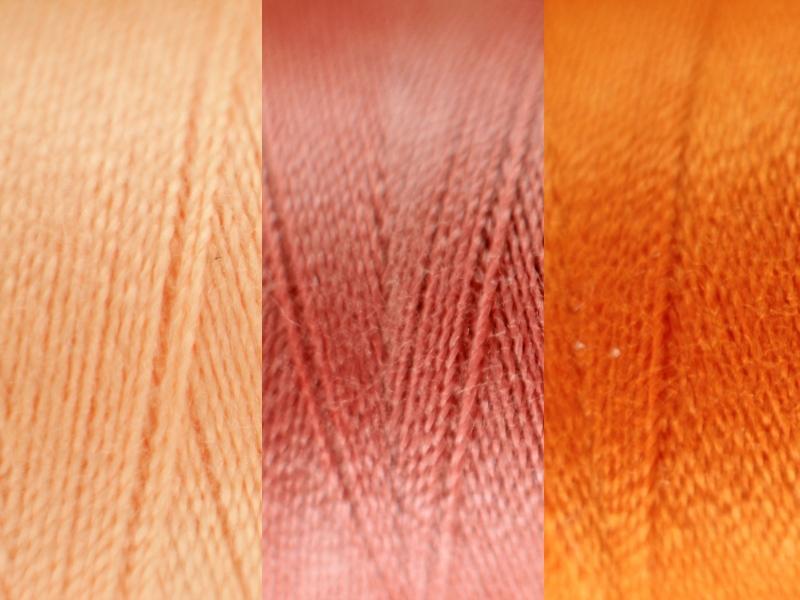 Naaigaren 500mtr zalm en oranje tinten