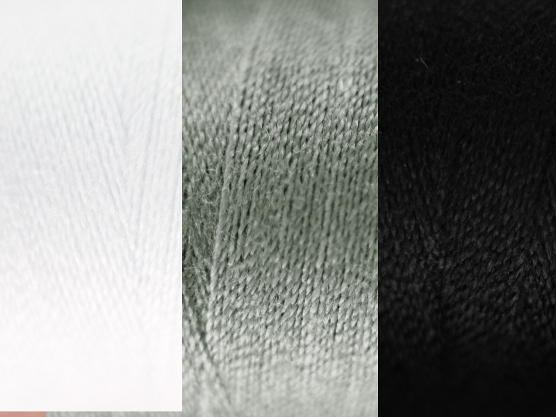 Naaigaren 500mtr zwart, wit en grijs tinten