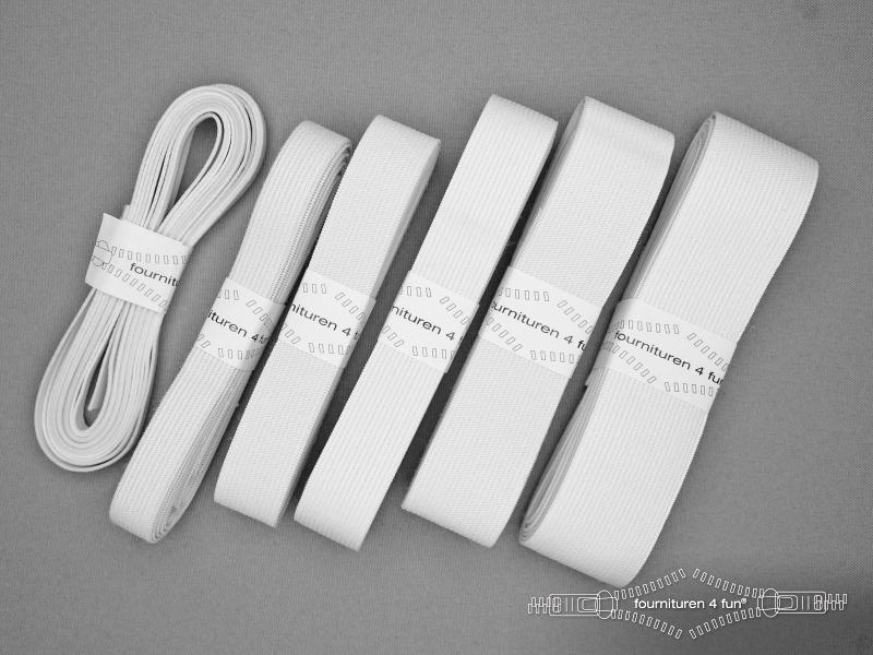 Band elastiek soepel wit