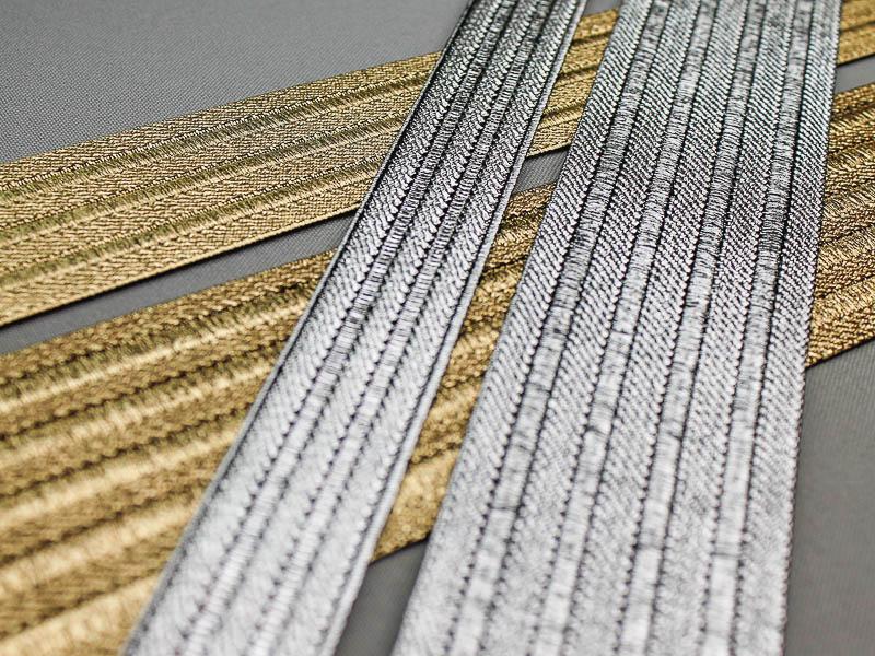 Nieuwe goud- en zilver elastiek