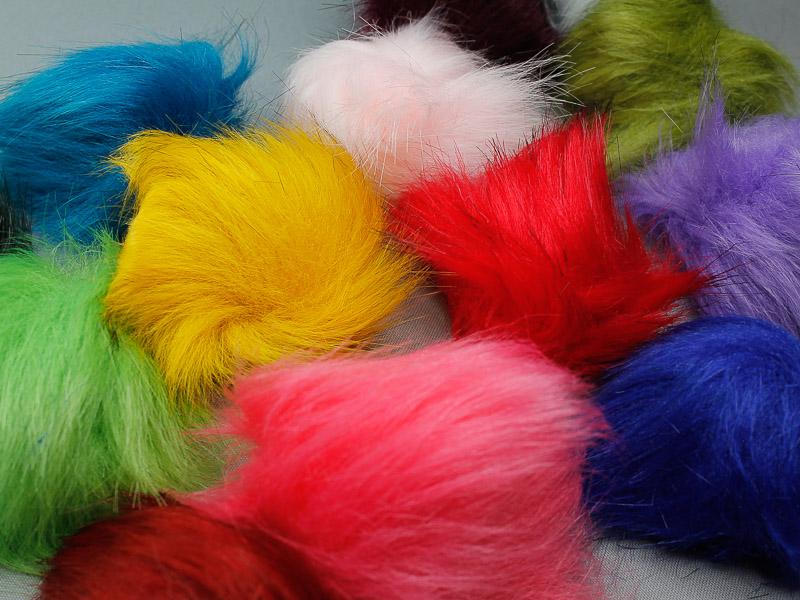 Nieuwe kleuren bont pompons Ø 8cm