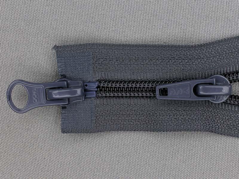 Deelbare spiraal rits 6mm met 2 schuivers