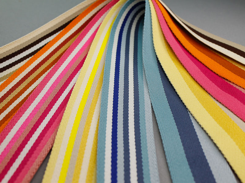 Nieuw dubbelzijdig gestreept tassenband