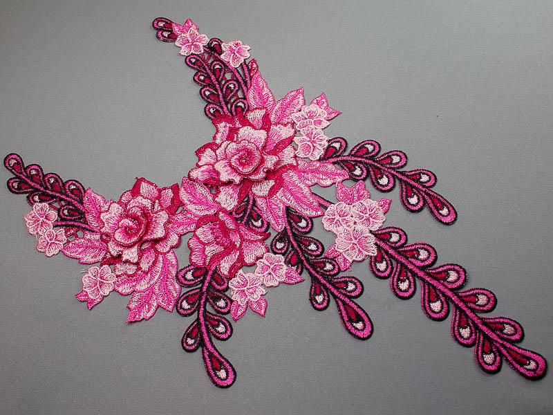 Opzet stuk voor hals / kraag bloem