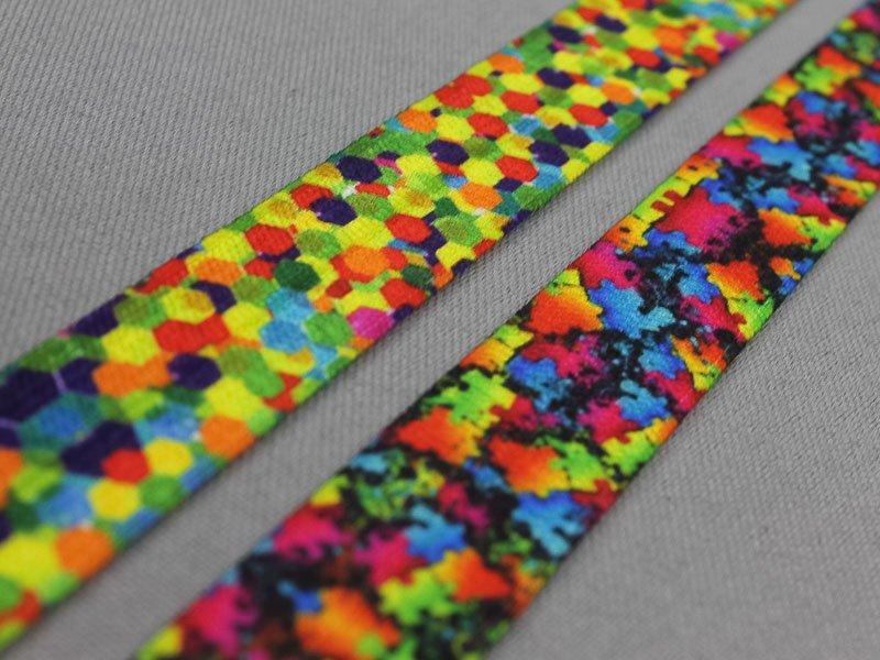 Multicolor elastische biasband