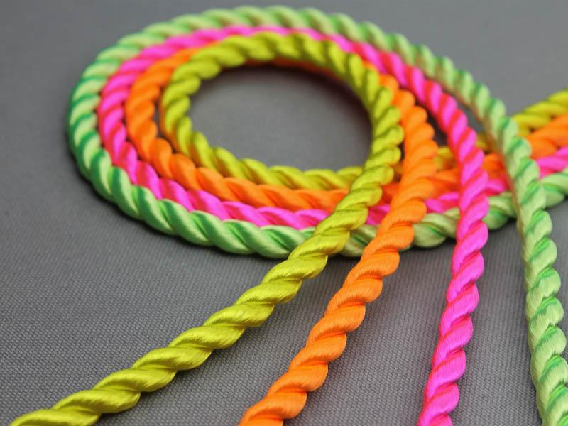 Neon kleuren viscose koord