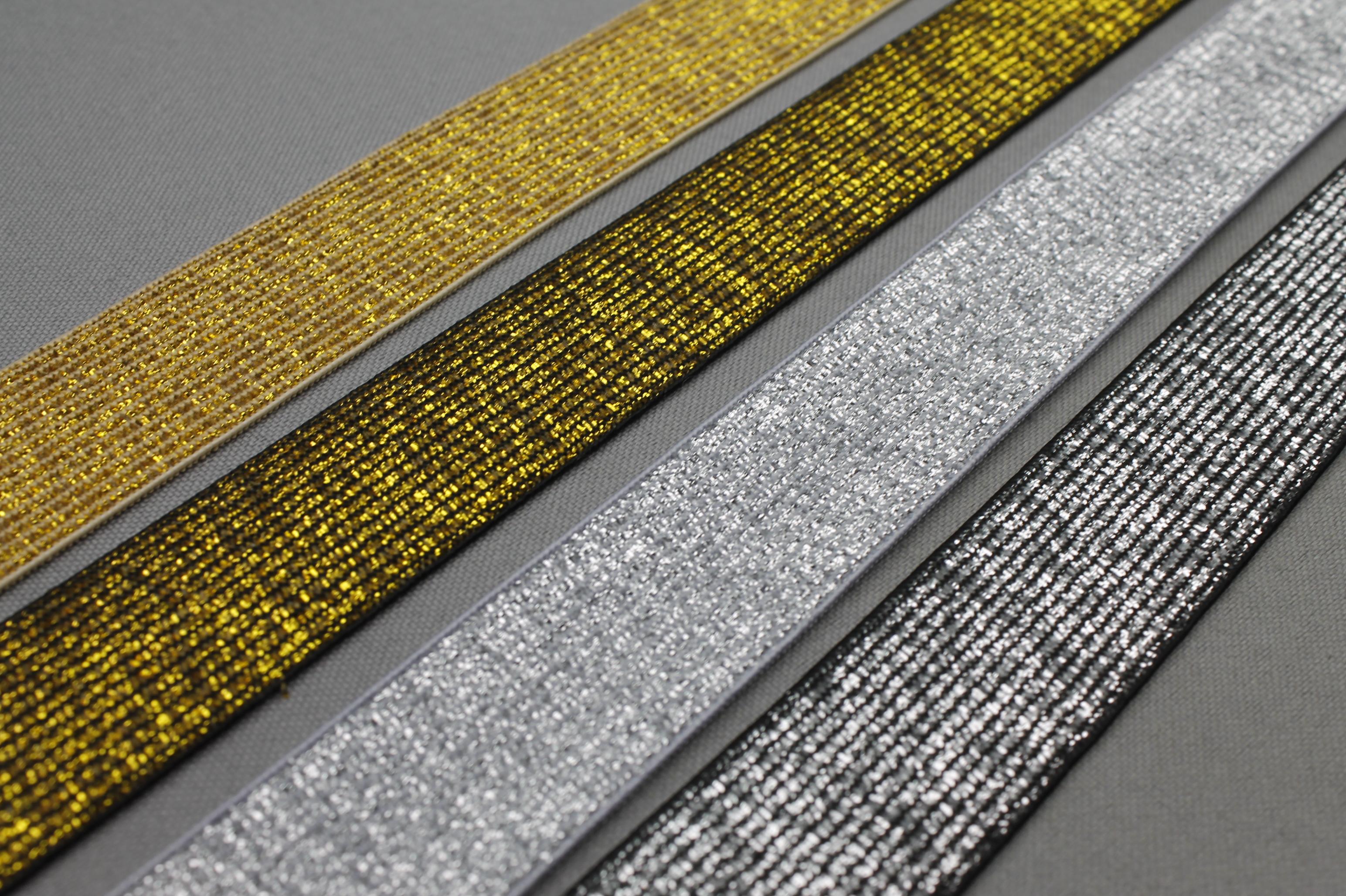 Nieuwe goud & zilver elastiek