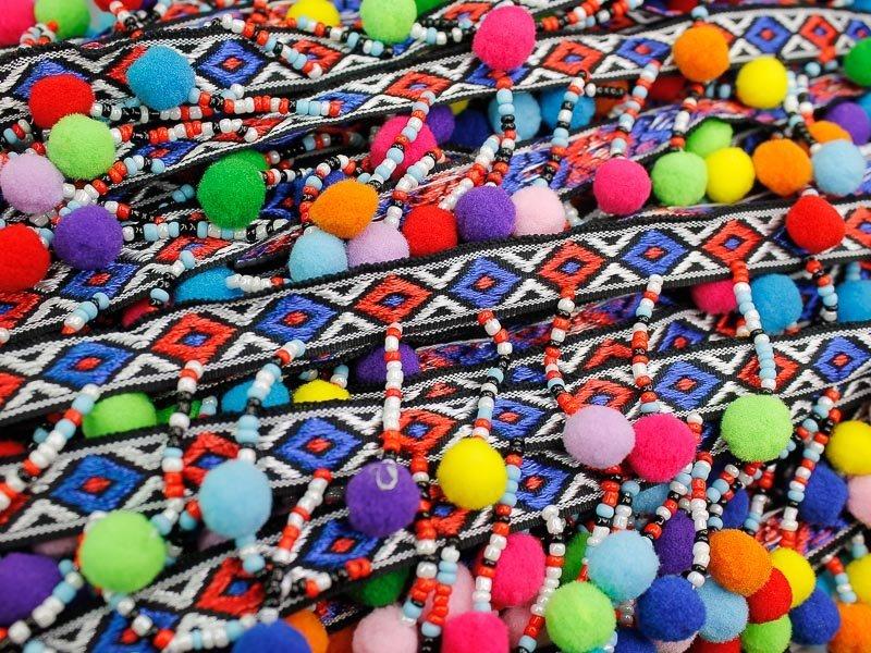 Multicolor bolletjesband