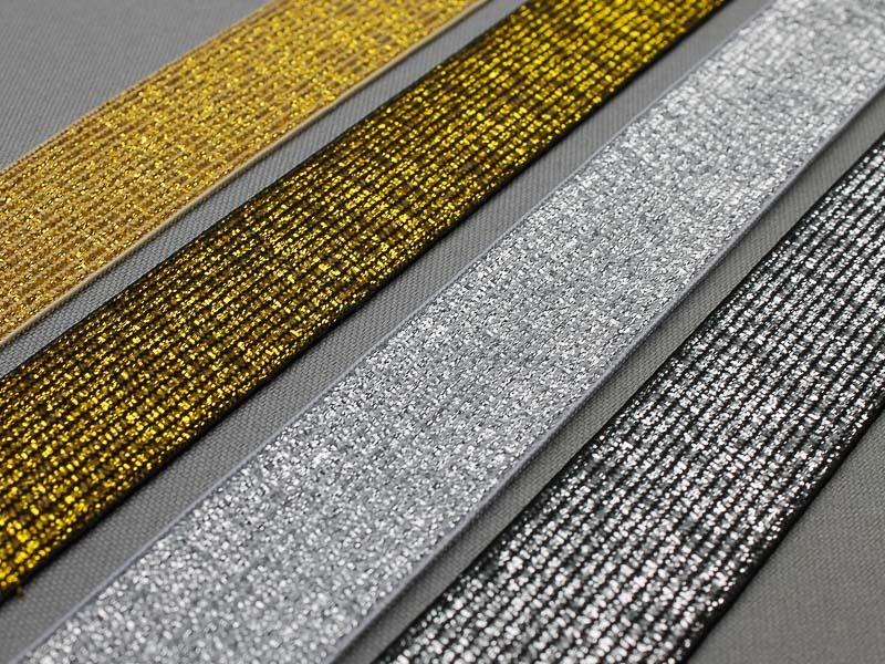 Goud en zilver elastiek