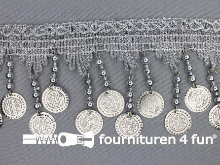 Muntenband 90mm zilver