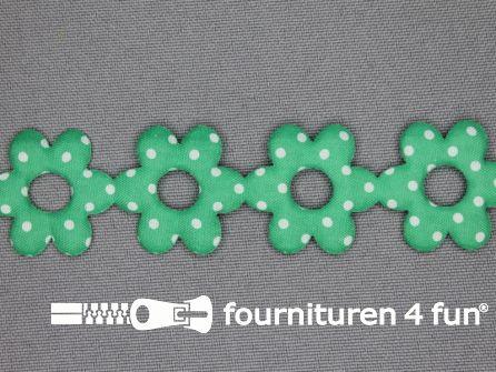 Guirlande bloemetjes 25mm zee groen - stippeltje