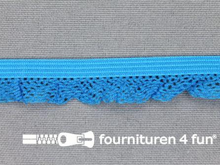 Elastisch kant 15mm aqua blauw