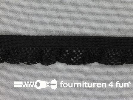 Elastisch kant 15mm zwart
