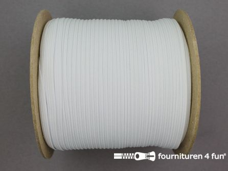 100 Meter rol elastiek 6mm wit