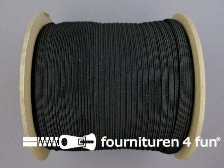 100 Meter rol elastiek 6mm zwart