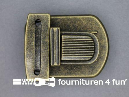 Koffer sluiting 42x52mm brons