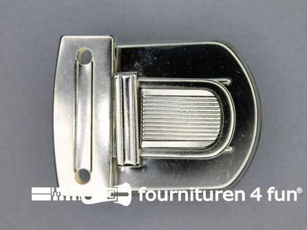 Koffer sluiting 42x52mm zilver