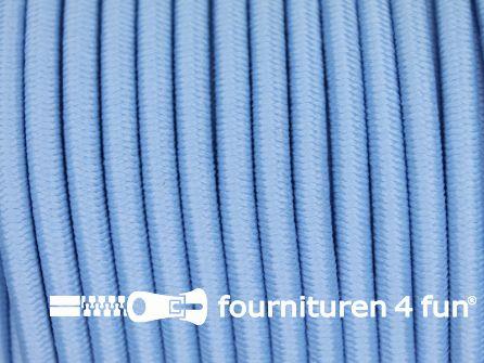 5 meter elastisch koord 3mm licht blauw