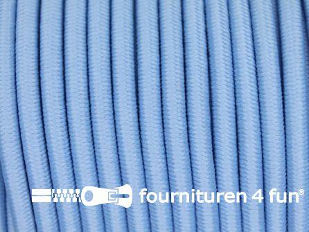 Rol 50 meter elastisch koord 3mm licht blauw