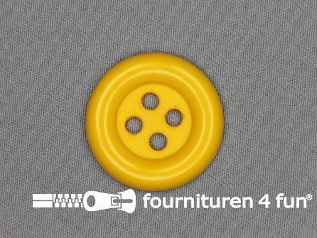 Clown knoop 38mm mais geel