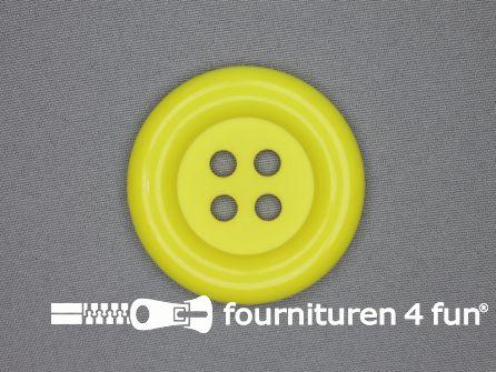 Clown knoop 54mm fel geel