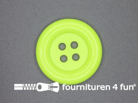 Clown knoop 54mm neon geel