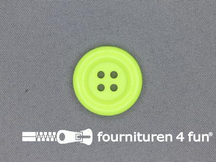 Clown knoop 28mm neon geel