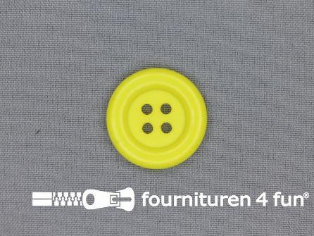 Clown knoop 28mm fel geel