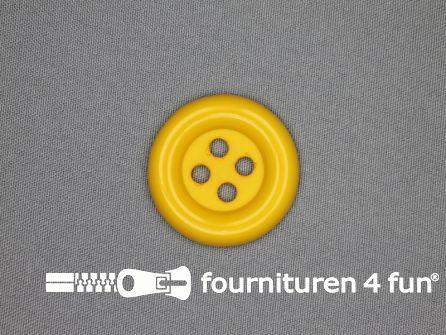 Clown knoop 28mm mais geel