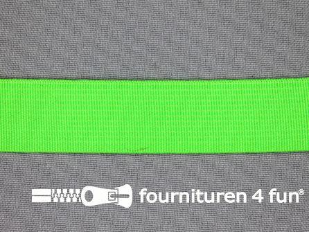 Gekleurd soepel elastiek 20mm neon groen