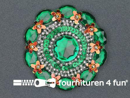 Broche 60mm emerald groen