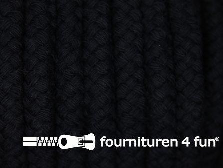 Katoenen koord grof 9mm zwart