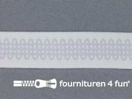 Antislip elastiek 20mm wit