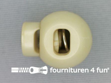 Koord stopper 18mm bal beige