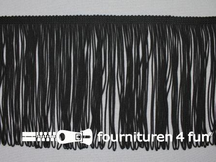 Charleston franje 150mm zwart (met lus)