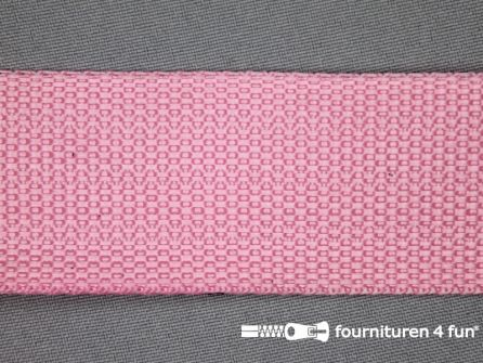 Soepel tassenband 40mm licht roze
