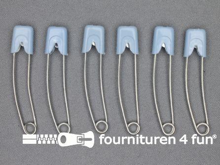 Luierspelden 58mm licht blauw 6 stuks