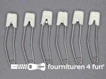 Luierspelden 58mm wit 6 stuks