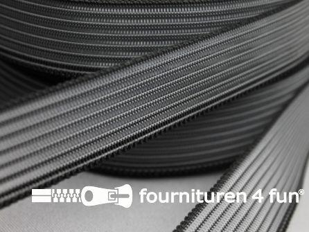 Rol 25 meter rimpel elastiek 19mm zwart