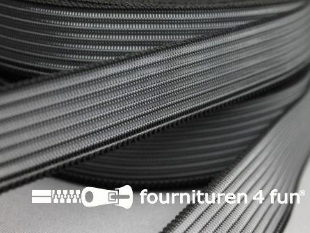 Rol 25 meter rimpel elastiek 25mm zwart