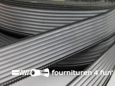 Rol 25 meter rimpel elastiek 30mm zwart