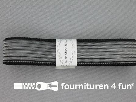 Rimpel elastiek 25mm zwart