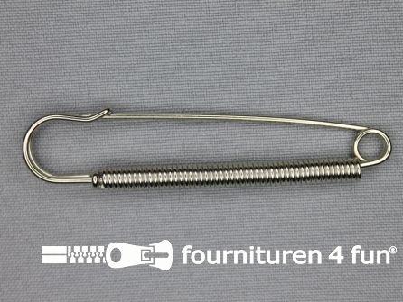 Kiltspeld 76mm zilver - spiraal