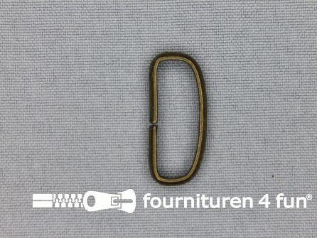 Schuifpassant 25mm brons 10 stuks