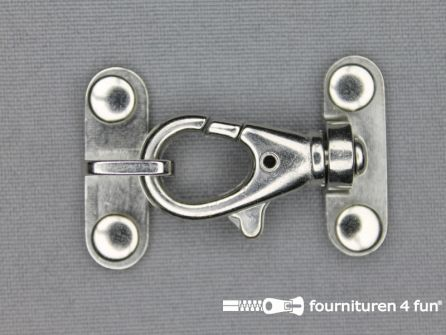 Siersluiting 45x30mm zilver