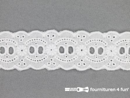Broderie kant entredeux 35mm wit