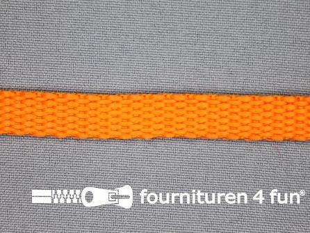 Halsband uni colour 10mm oranje